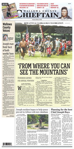 Wallowa County Chieftain Latest e-edition